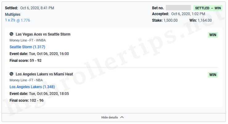 Blowoutwinner,handicapper,goatofsportsbetting,win,Las Vegas Aces,Seattle Storm,Los Angeles Lakers,Miami Heat,sports betting tip,sports betting pick. Win $1,170 🚀 (+1.17 Unit) 🚀 - Las Vegas Aces v Seattle Storm and Los Angeles Lakers v Miami Heat - SPORTS BETTING TIP, SPORTS BETTING PICK (06-10-2020)